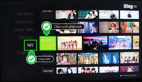 Hướng dẫn cách sử dụng ứng dụng Zing TV trên Android tivi Sony