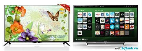 So sánh Smart Tivi LG 40UB800T 4K và Sony KDL-40W600B VN3