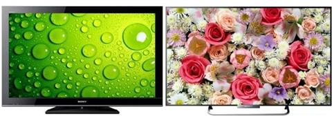 So sánh Tivi Sony LED KDL-42W674A và LCD KLV 40BX450