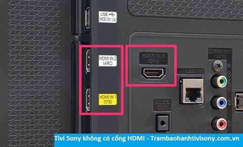 Tivi Sony không kết nối được HDMI