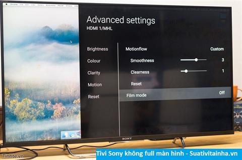 Tivi Sony không Full 100% màn hình