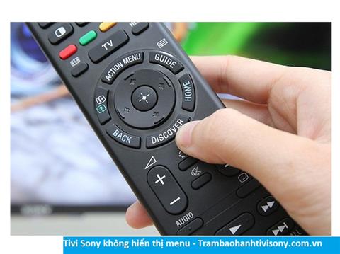 Tivi Sony lỗi không hiển thị menu