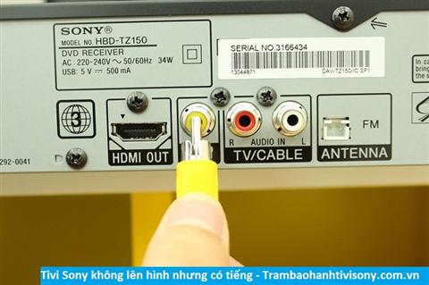 Tivi Sony có hình nhưng không lên tiếng