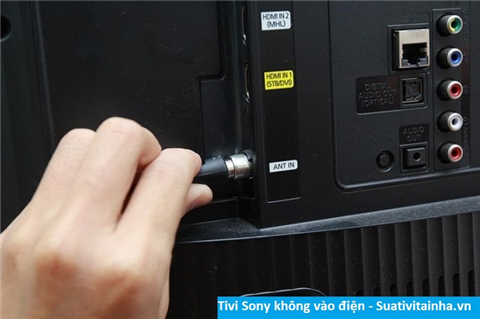 Tivi Sony không vào điện