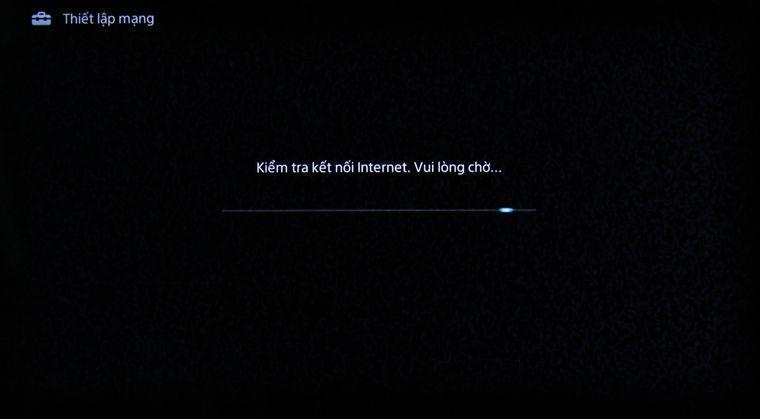 Tivi đang trong quá trình kết nối mạng
